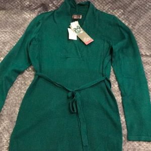NWT:Cute teal v neck maternity sweater Sz S